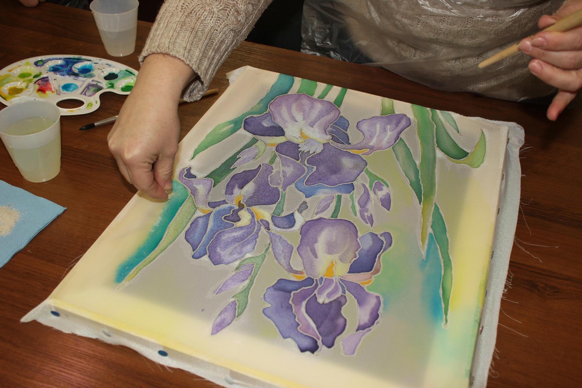 Батик для начинающих мастер-классы по ручной росписи шелка