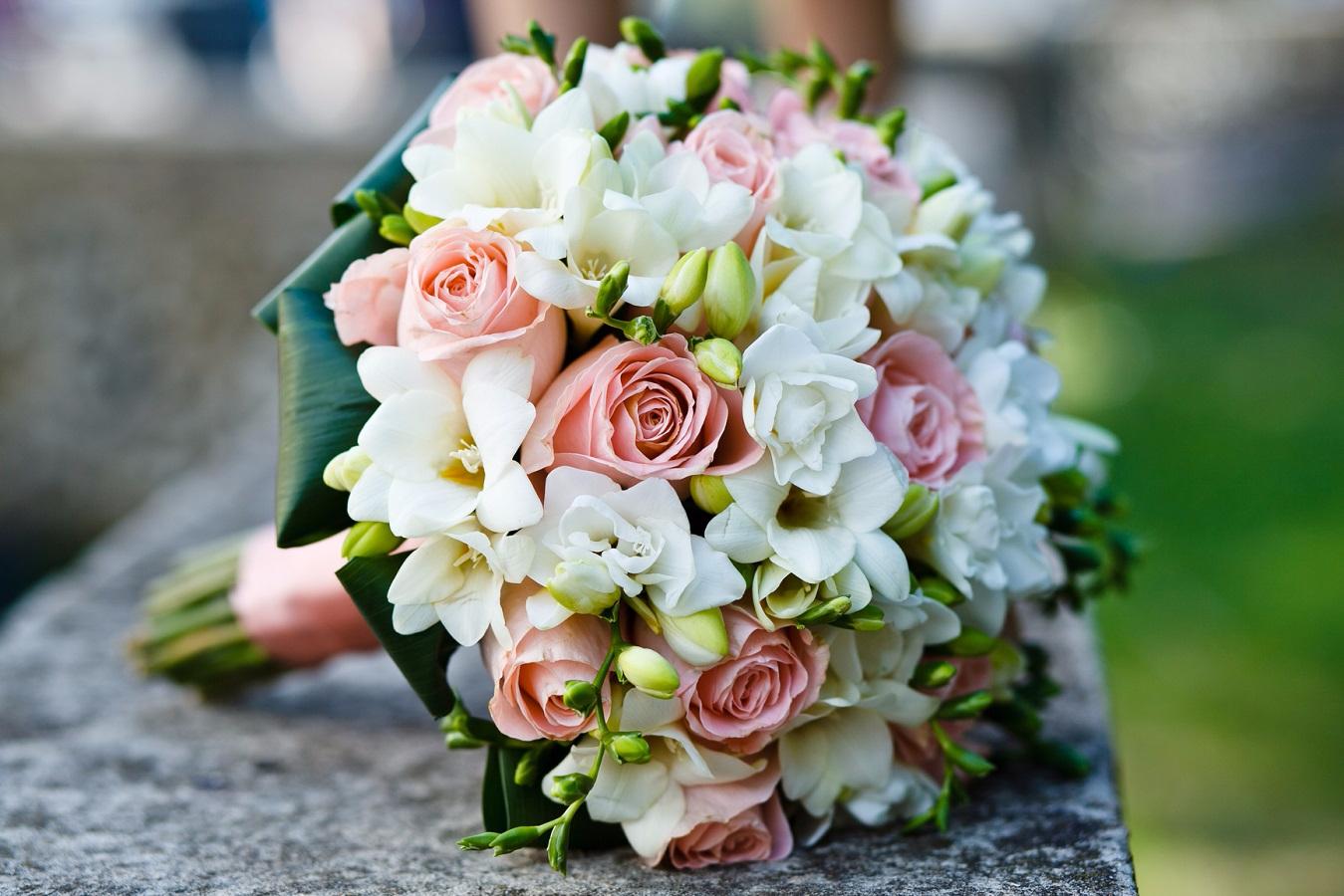 Нежный свадебный букет своими руками