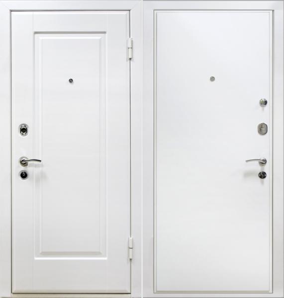 двери стальные белого цвета