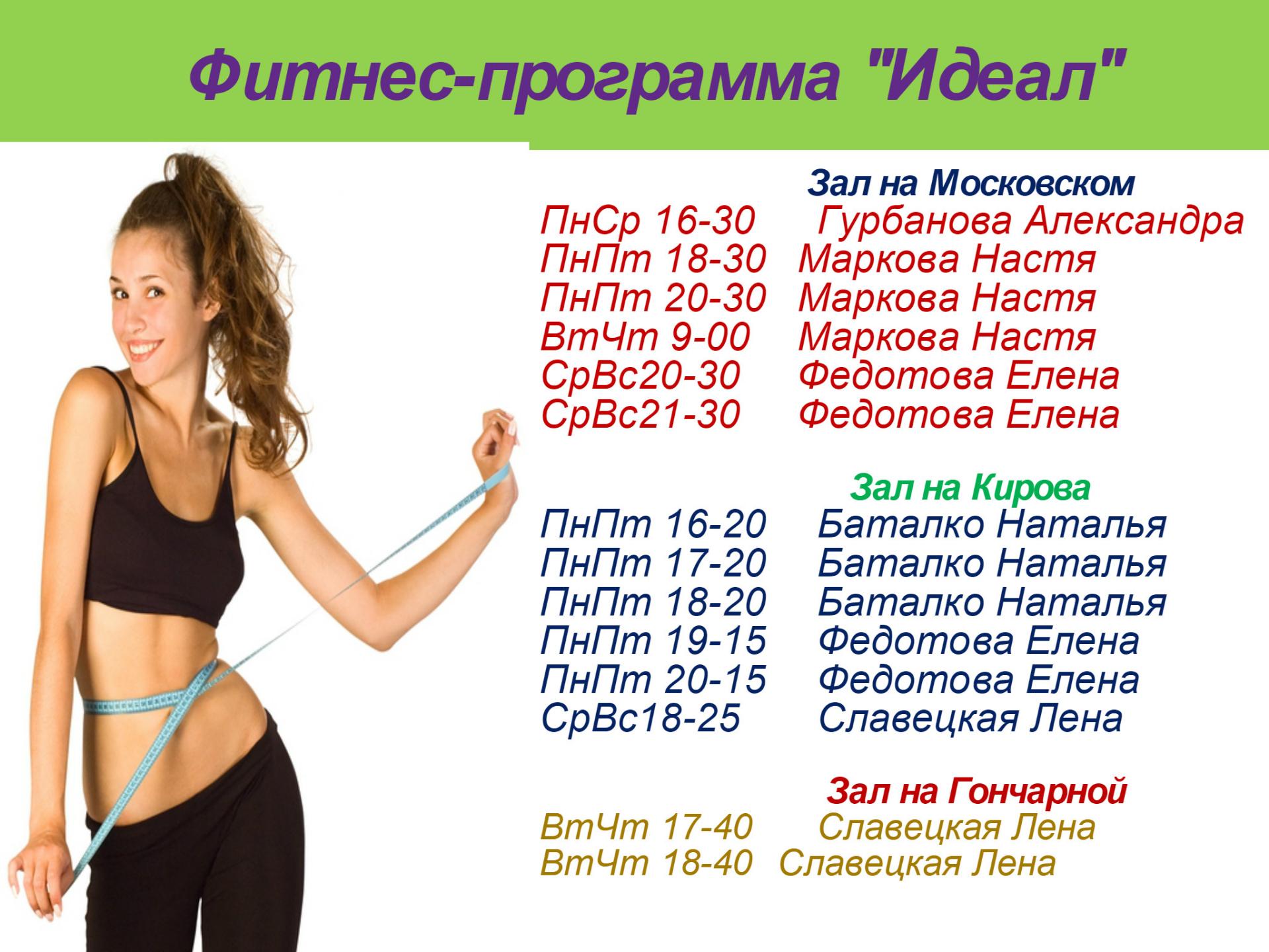 Фитнес План Для Быстрого Похудения. Похудеть за месяц. Программа тренировок и план питания