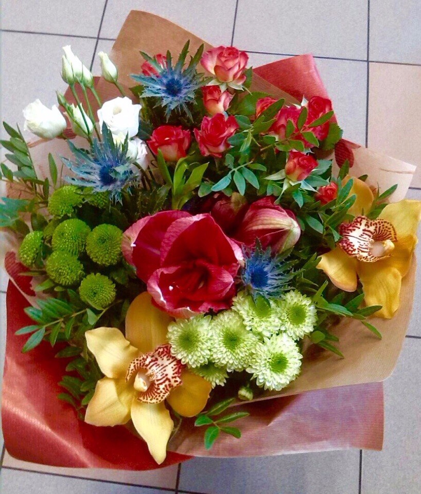 Заказать букет цветов на дом в витебске, розы цена
