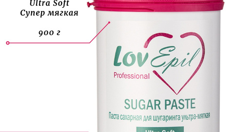 УЛЬТРА МЯГКАЯ | 900 г | Сахарная паста для шугаринга | Ultra Soft | LovEpil